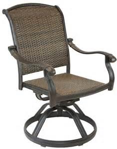 Patio Dining Sets With Rocking Chairs Santa Clara Cast Aluminum Powder Coated Set Of 4 Swivel