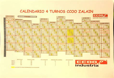 Calendario 4 Turnos Ccoo Zalain Calendario 4 Turnos Para El 2016