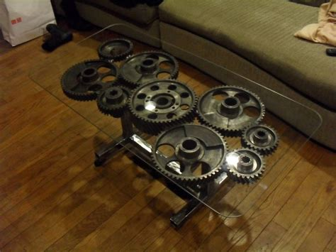 gear table steunk gear coffee table steunk