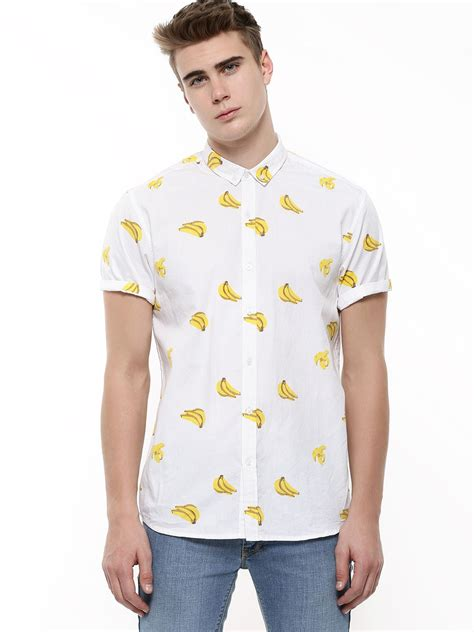 Banana Shirt by Buy Koovs Exclusive Print Banana Shirt For S