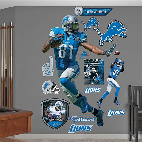 size calvin johnson stiff arm wall decal shop