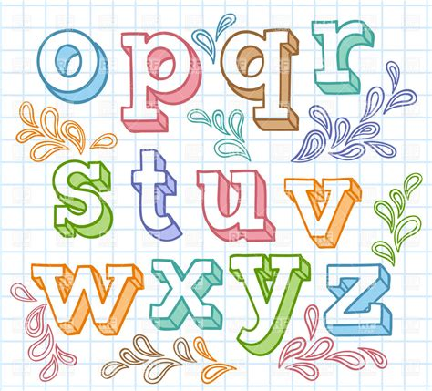 colorful fonts colorful sketchy font shaded letters on checkered paper