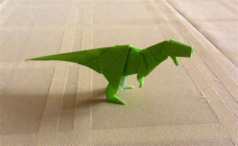 How To Make An Origami T Rex - origami tyrannosaurus rex by kazikasaurus on deviantart