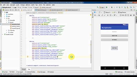 Android Studio Tutorial In Hindi Pdf | solve android studio button position problems with two