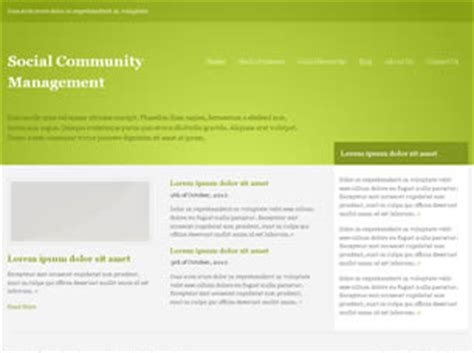 css layout manager social community management free website template free
