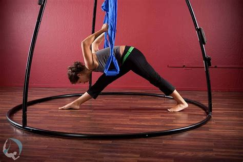 aerial swing yoga yoga assisted back body stretch aerial swing yoga swings