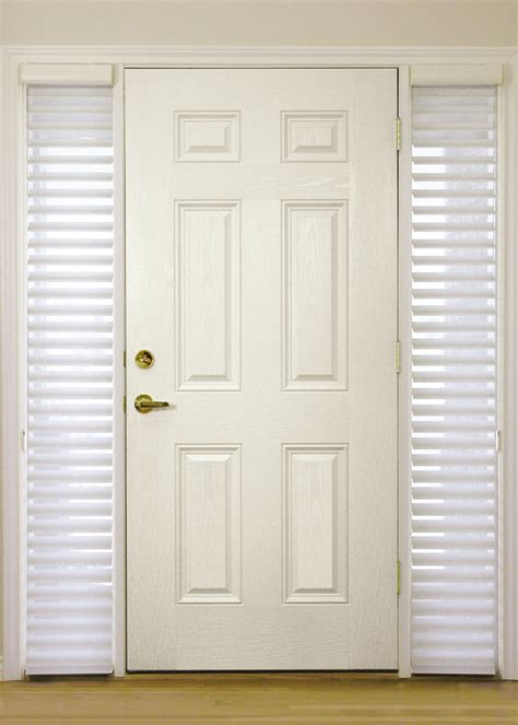 Blinds For Front Doors Sidelight Window Treatments On The Entry Doors Homesfeed