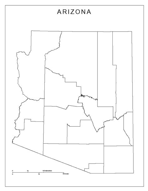 blank map of arizona arizona blank map