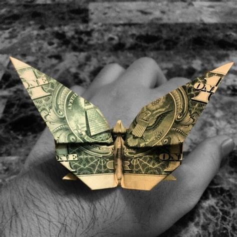Butterfly Dollar Origami - origami butterflies and origami butterfly on