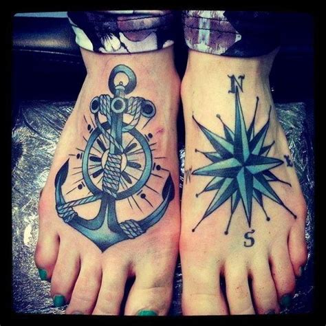 compass and anchor tattoo 50 cool anchor designs and meanings hative