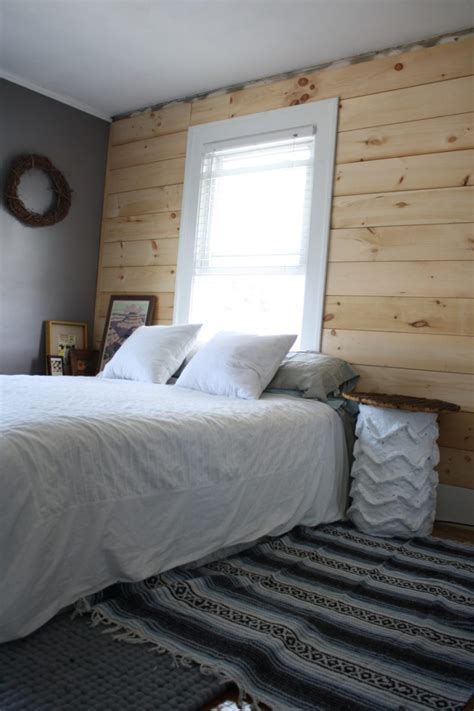 Shiplap Paneling diy shiplap paneling as a custom bedroom headboard merrypad