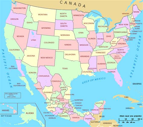 map of usa showing states and canada file us mexico union png wikimedia commons