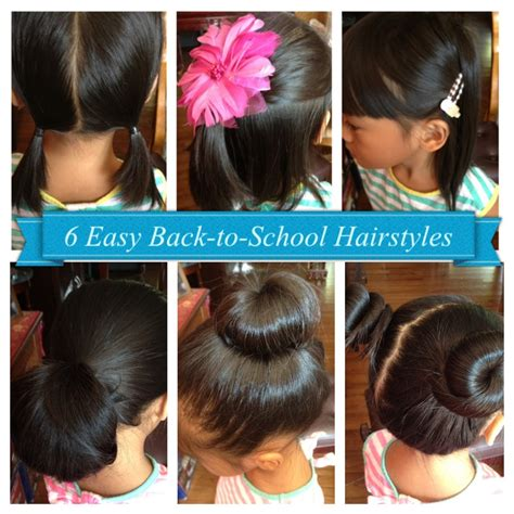 school hairstyles for girls for 14year old 6 easy back to school hairstyles for girls short long