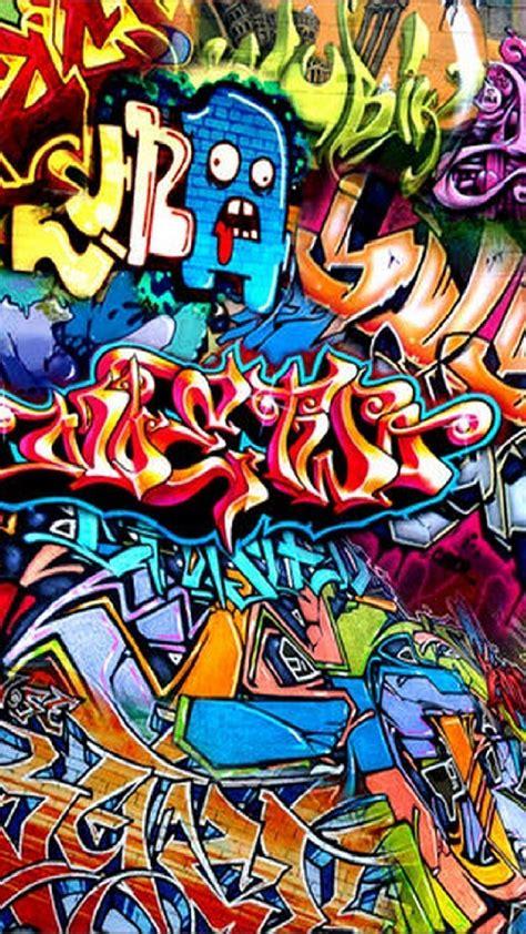 graffiti hd colorful scary iphone mobile wallpaper