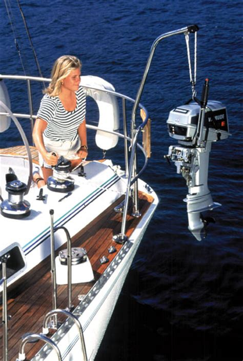 boat dinghy winch davits davit systems for inflatable boats