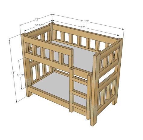 Free Plans For Bunk Beds White Build A C Style Bunk Beds For American Or 18 Dolls Free And Easy Diy