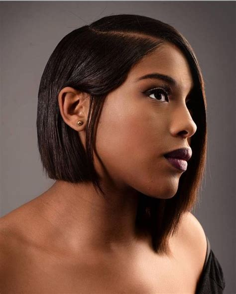 bob haircuts that cut shorter on one side 40 african american short hairstyles part 9