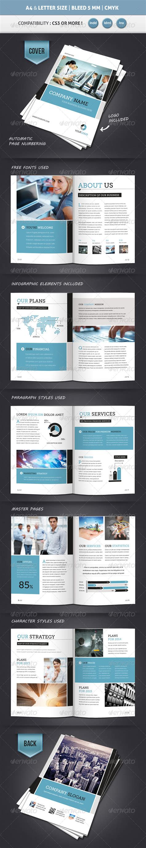 corporate brochure template a4 letter 12 pages print