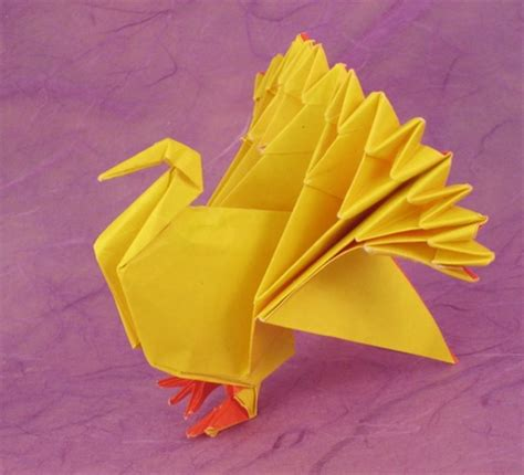 Make A Paper Turkey - origami turkeys gilad s origami page