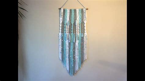 Learning Macrame - learn macrame wall hangings 3 colour pattern