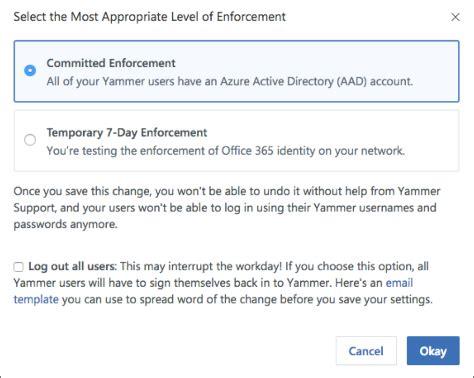microsoft office tutorials enforce office 365 identity