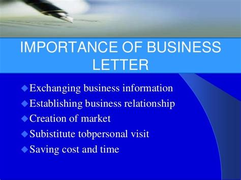 business letter writing importance importance of business letter