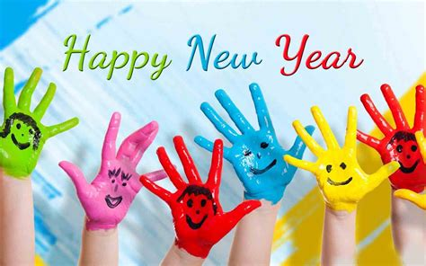 happy new year blessing happy new year wishes paint colors hd wallpaper