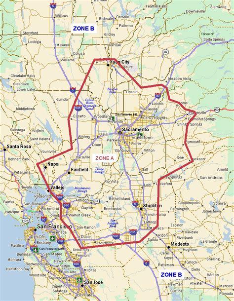 map of sacramento area sacramento courier
