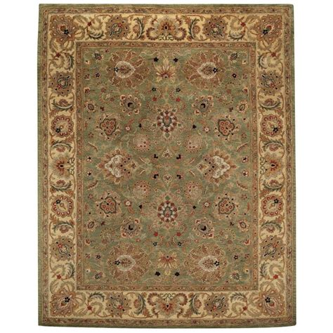 capel rugs home capel monticello green pistachio 10 ft x 14 ft agra area rug 3317rs10001400200 the home depot