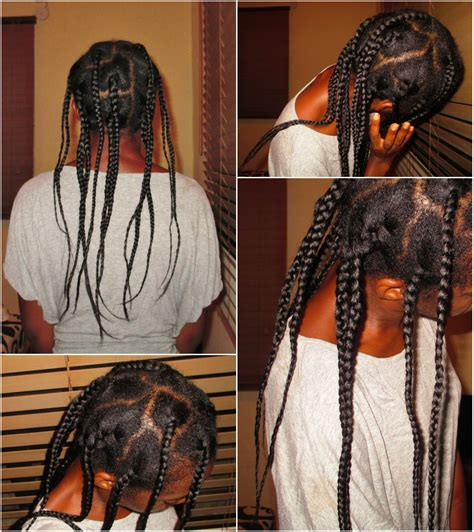 Neck Length Box Braids | feature how she grew from neck length to waist length