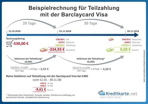 zinsen berechnen kreditkarte barclaycard visa test und erfahrungen