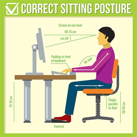back from sitting at desk proper sitting posture at desk desk design ideas