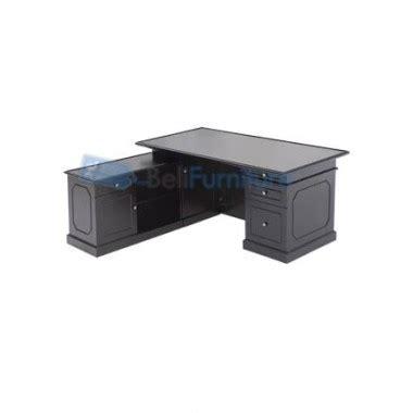 Meja Kantor Letter L indachi clasic meja kantor l 170 cm murah bergaransi dan lengkap belifurniture