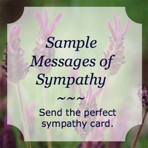 sle messages of sympathy