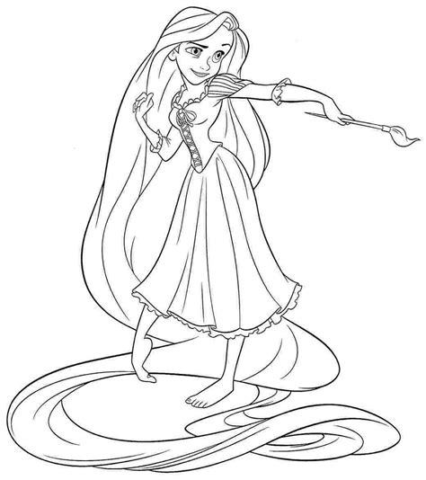Disney Princesses More Than 25 Free Images To Print And Disney Princess Rapunzel Coloring Pages
