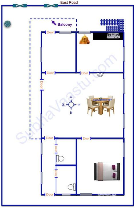 east facing vastu house plan subhavaastu