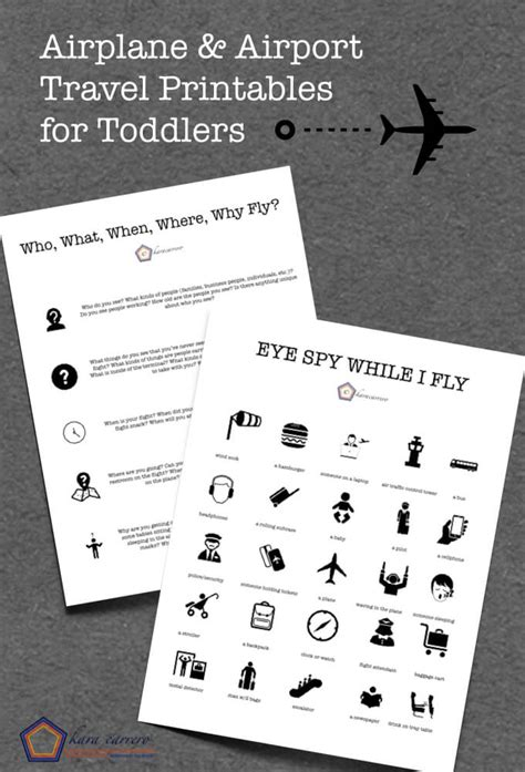 printable games to play on a plane entertaining toddlers on an airplane and in an airport