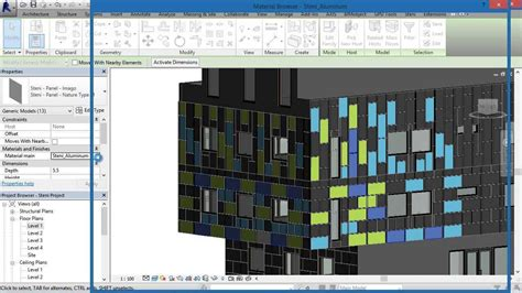 revit tutorial facade bimobject 174 steni facade cladding system for revit step by