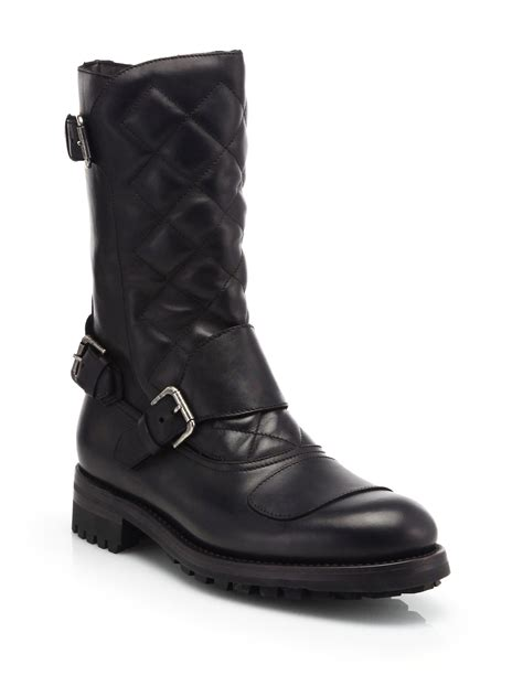 black leather moto boots ralph boots for 28 images polo ralph conquest leather