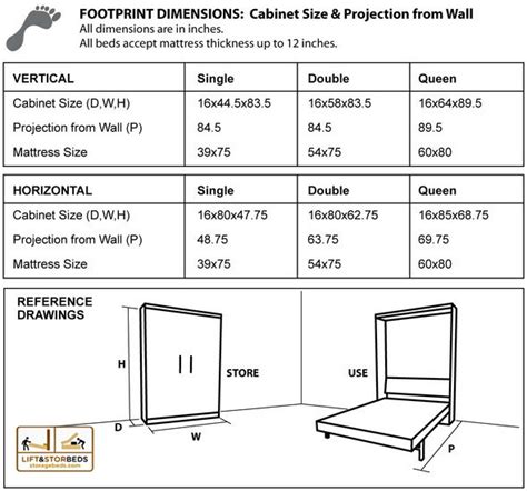 murphy bed dimensions wall bed diy hardware kit lift stor beds