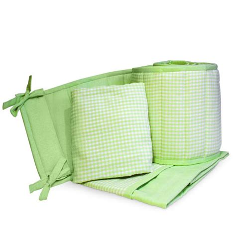 Gingham Crib Bedding by Seed Sprout Gingham Portable Crib Bedding 3 Set