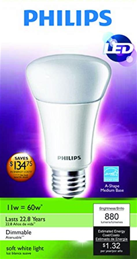 Lu Led Philips 19 Watt philips 424382 11 watt a19 led household dimmable light bulb import it all