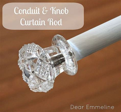 make your own curtain rod finials diy curtain rod