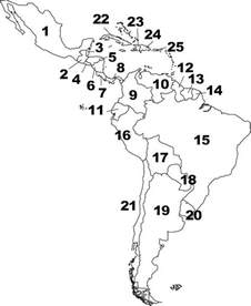 south and central america blank map blank map south america central america