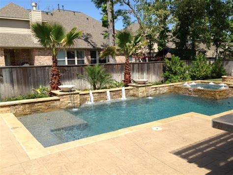 Backyard Pools Houston Geometric Regal Pools Houston Pool Builder Backyard