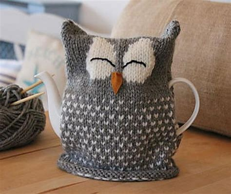 free tea cosy patterns to knit sleeping owl tea cosy knitting pattern by julie richards