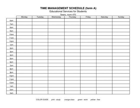 free printable time management calendar free calendar