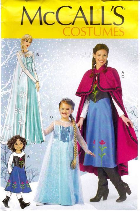 sewing pattern elsa frozen mccall s costume pattern miss small med lg xl mp381
