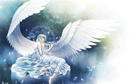 wallpaper anime angel beautiful white angel anime manga wallpaper