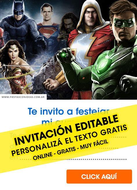 justice ligue birthday invitations  edit